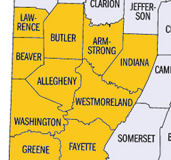 Pittsburgh Metro Area Counties